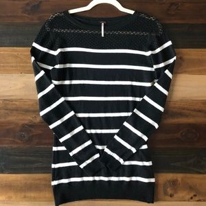 POOF! ❤️ Pullover Striped Tunic Sweater